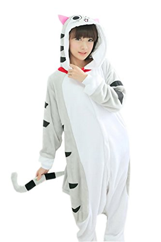 La vogue Anime Pijamas Cosplay Halloween Carnaval Mujer Hombre (Gato, S)