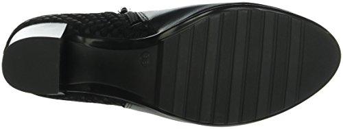 Marc Shoes - Edina, Stivali bassi con imbottitura leggera Donna Nero (Schwarz (black-combi 00025))