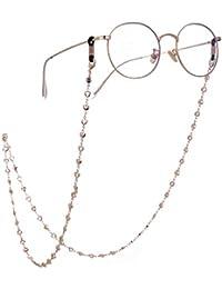 b80939e3b9d0c LIKGREAT 2 pcs rétro Lunettes en Forme de chaîne Support pour Femme Cœur  Perles Cordons de
