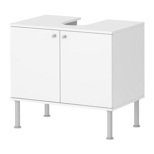 IKEA Fullen - Mueble bajo Lavabo w 2 puertas, blanco - 60x55 cm
