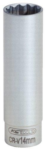 KS TOOLS 911 3991 - LLAVE DE VASO ESPECIAL PARA BUJIAS  DODECAEDRO (TAMAñO: 14 MM  3/8)