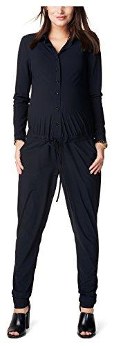 Image of Noppies Women's Jumpsuit Ls Mari Dungarees, Black-Schwarz (Black C270), 42 (Manufacturer's Size: XL)