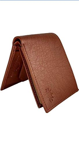 wood-land Wallet for Mens Brown Leather Regular Purse tan (1)