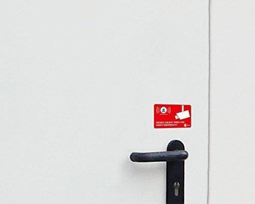 5 Stuck Aufkleber Video Uberwacht Isecur Alarmgesichert 5x3cm