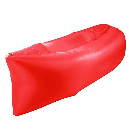 XHCP Outdoor Aufblasbare Schlafsofa Tragbare Lazy Air Bettlaken Indoor Mittagsbett Schnelle Luftpolster Kann Gewicht Innerhalb 400 kg (Farbe: Red70x50x180 cm) - 400 Kg Gewicht