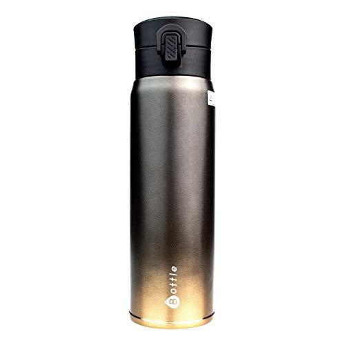 Tianba Vakuum Isolierbecher - Tee Thermoskanne 450ml - Kaffeebecher to Go - Aus Edelstahl Auslaufsichere Trinkflasche für Kalt und Warm - Einhändig zu Öffnen und Trinken (Rot) - Thermoskanne 450