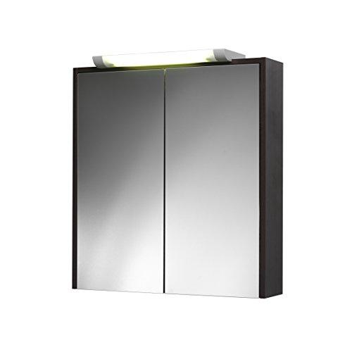 Jokey Spiegelschrank Mesta Weiss oder nussbaum Badspiegel 65 cm breit (Nussbaum)