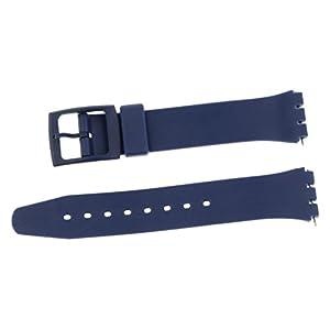 PUREgrey Ersatzband Kunststoff Band 17mm für SWT Uhren blau inkl. Ersatzstifte