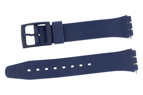 puregrey ricambio nastro nastro di plastica 17 mm per orologi Swt Blu con Pennini di Ricambio
