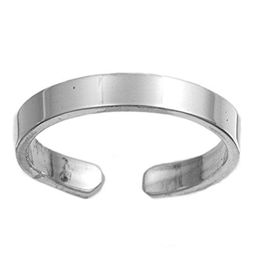 7K Zehenring aus 925 Sterling Silber als Fußschmuck für Damen, Herren und Mädchen, Größenverstellbar, Modell 10