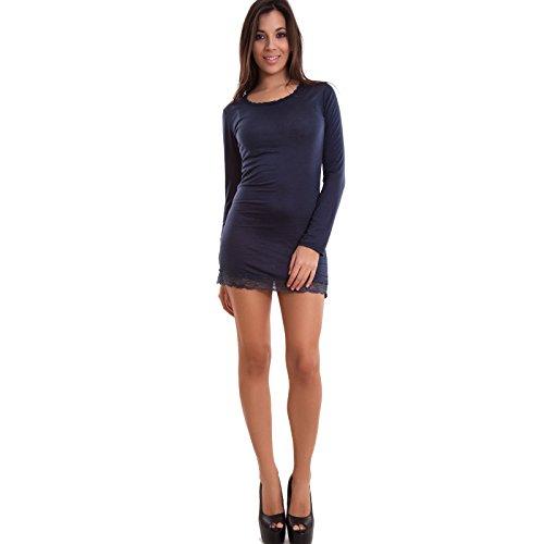 Toocool - Robe - Moulante - Femme bleu foncé