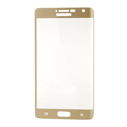 Generic Carcasa de Protectora Estuche de Caso Cubierta Pantalla Cristal Templado para Smartphone Samsung Galaxy Note Edge N9150 - Oro