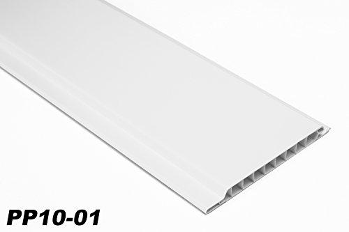 1 m2 PVC Paneele Profilbretter Platten Wandverkleidung 200x10cm PP10-01 weiß