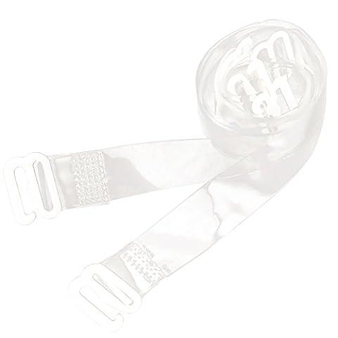 2/4x BH Traeger Transparent Damen Silikon Durchsichtig Ersatztraeger Bra Starps 1cm 1,5cm Breit