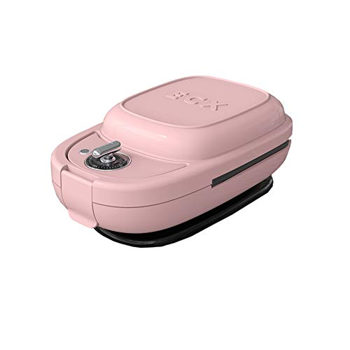 Quadrat Waffeleisen, LNTE Multifunktions Antihaftbeschichtung Kleine Waffelmaschine Haushalt \\u0026 Küche Sandwich Frühstücksmaschine Kochmaschine Waffeleisen-pink