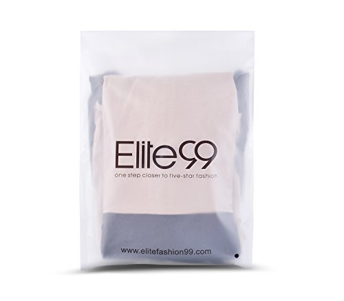 Elite99® - Robe - Trapèze - Femme Bleu bleu 34 Motif fleurs Rouge
