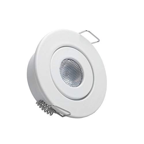 Foco Downlight LED COB Direccionable Circular 1W Blanco Blanco Cálido 3000K efectoLED