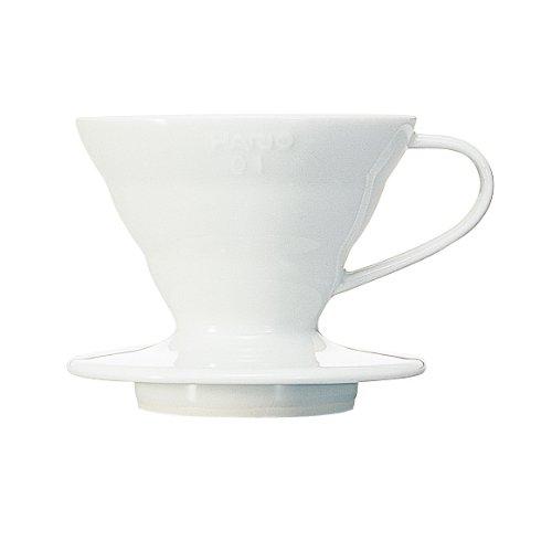 Hario VDC01W - Cafetera Dripper V60, de cerámica, 1 taza, color blanco