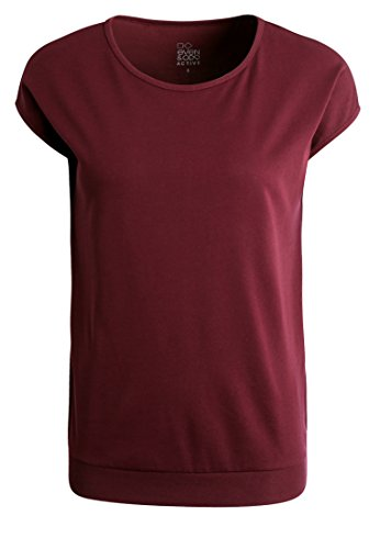 Even&Odd Damen T-Shirt mit Kurzarm in Bordeaux, L
