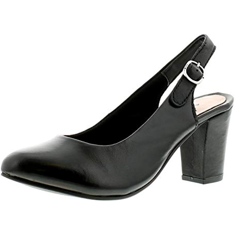 Comfort Plus Femmes Femmes Femmes Talon Haut Fermeture Arrière Bout Arrondi Cuir Escarpins de CET Élégant Chaussure Could Be... - B07GNT2ZZS - 508726