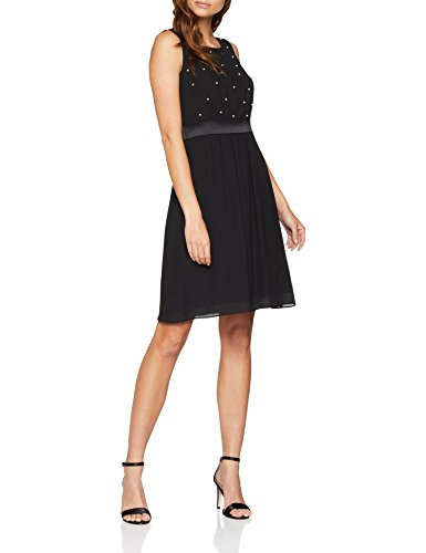 s.Oliver BLACK LABEL Damen Partykleid 70.808.82.8042, Schwarz (Back to 9999), 34