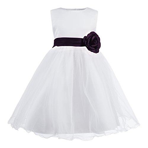 Imagen de katara 1690 1611  flor chica banda flores vestido, 98 104, 2 3 años, púrpura