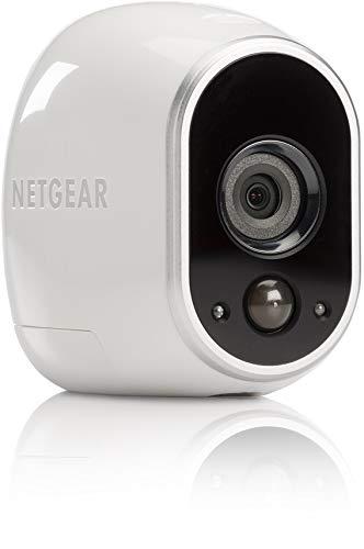 Arlo - Smart Caméra de surveillance - Pack de 1 - Kit de Surveillance 100% sans Fil, HD,Vision Nocturne, Etanches Intérieur/Extérieur, Fixations Aimantées Fournies l VMS3130-100EUS