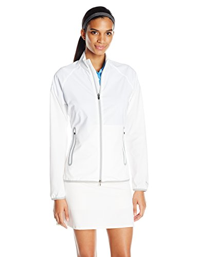 Puma Golf 2017 Damen Full Zip Wind Jacke, Damen, Bright White -