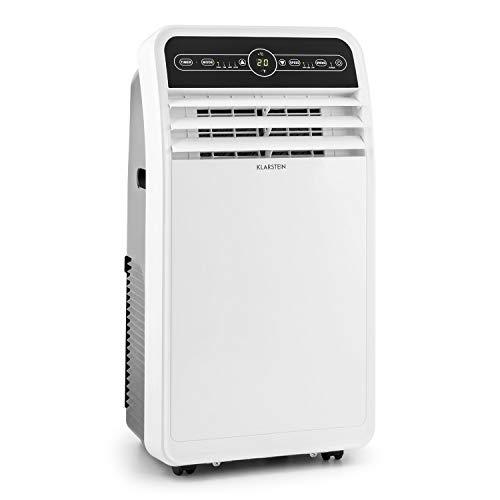 Klarstein Metrobreeze 9 New York mobile Klimaanlage 3-in-1 Klimagerät: Ventilator, Kühlungs- und Luftentfeuchtungsfunktion (EEK: A, 9.000 BTU/h, 17-30°C, Oszillation, Timer, Bodenrollen) weiß