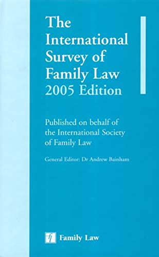 International Survey of Family Law 2005 por Andrew Bainham