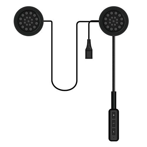 Tellaboull for Bluetooth 4.0 Moto Casco Auriculares Motocicleta Interfono Intercomunicador FM Altavoz
