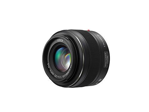 Panasonic H-X025E LEICA DG SUMMILUX 25 mm F1.4 ASPH. Objektiv (Festbrennweiten Objektiv, Bildwinkel 47°, Filtergröße 46 mm) schwarz