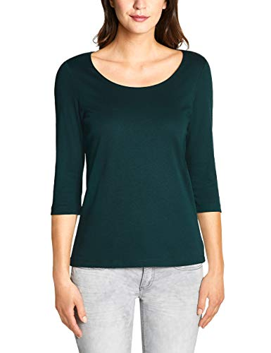 Street One Damen Pania T-Shirt, Highland Green, Herstellergröße:36