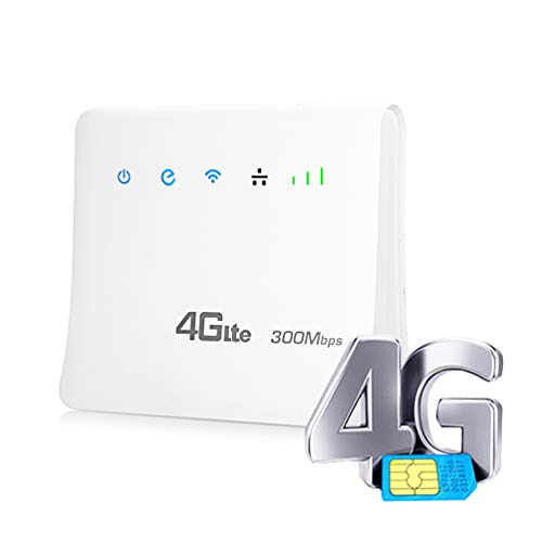 XMAGG® 4G LTE Mobile Mifi WI-Fi-Gerät Breitband Router 300Mbps CPE Mobile Router mit LAN Port Unterstützung SIM Karte Tragbare Wireless Router WiFi Router -