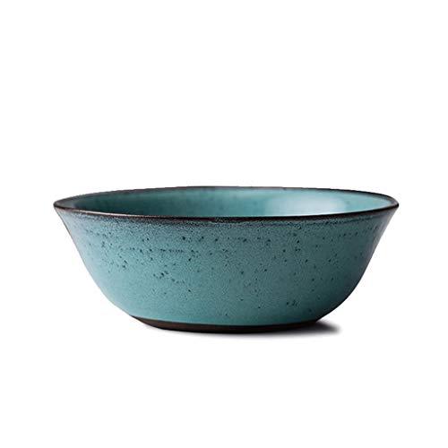 Bol - Rétro Creative 7 pouces en céramique bol de céréales ronde fruits nouilles bol bleu tableware