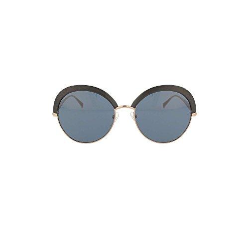 Max mara mm ilde ii 9a 1uv, occhiali da sole donna, nero (mtbk gdcoppr/bluette), 57