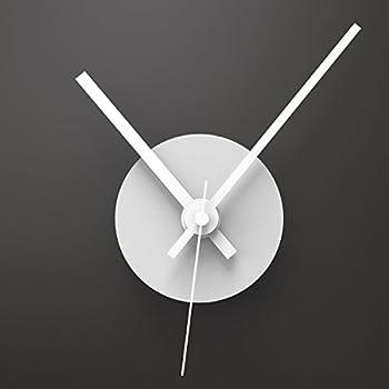 wandkings wanduhr solo clock mit uhrwerk uhrzeigern farbe uhr wei zeiger wei. Black Bedroom Furniture Sets. Home Design Ideas
