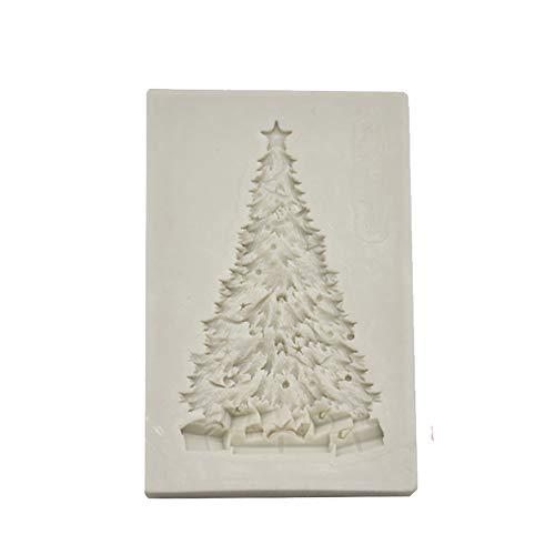 TREESTAR Ausstechformen aus Silikon, Motiv: Tannenbaum, für Seife, handgemacht, Gelatina, Kuchen, Schokoladenbraun wie Gezeigt