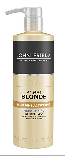 John Frieda Sheer Blonde Highlight Activating Moisturising Shampoo, 500 ml