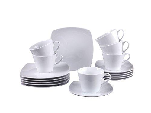 Vivo by Villeroy & Boch Group Simply Fresh Kaffeeservice für bis zu 6 Personen, 18-Teilig, Premium...