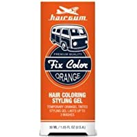 Hairgum Fix Color Temporary Hair Coloring Styling Gel - Orange 1 oz. (Pack of 6)