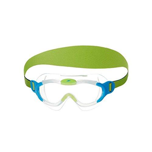 Speedo Sea Squad Mask JU Occhialino Bambino, Blue/Green