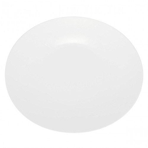 DEGRENNE - Boreal Blanc Lot de 6 assiettes creuse calotte ovale porcelaine 23,5x20 cm