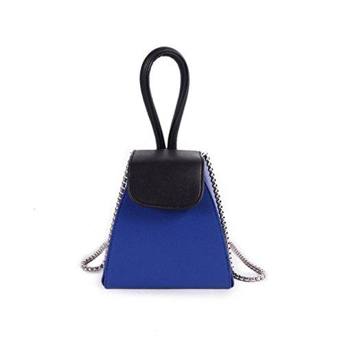 borsa catena YANX signora modo di colore della borsa dell'unità di elaborazione signore spalla Tote BYXin abbigliamento moda PU colore catena borsa borsetta borsa a tracolla borsa a mano , blue