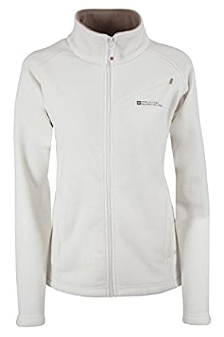 Mountain Warehouse Star Women's Full Zip Fleece - Quick Drying, Breathable & Anti Pill Fleece with Warm & Soft Touch - Great With or Without Layering White 10