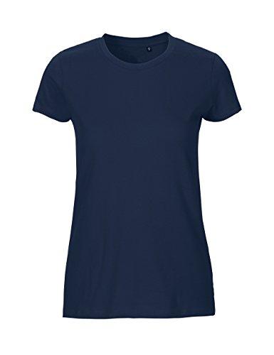 Green Cat- Ladies Fitted T-Shirt, 100% Bio-Baumwolle. Fairtrade, Oeko-Tex und Ecolabel Zertifiziert, Textilfarbe: Navy, Gr.: L -