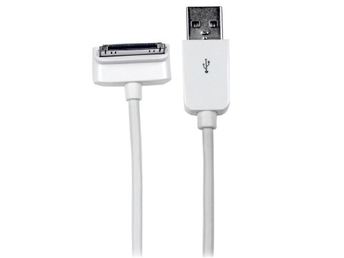 STARTECH.COM USB2ADC1MD Down Angle USB Kabel (USB Stecker-A auf Dock Connector, 1m) für Apple iPhone/iPod/iPad mit Stepped Connector -