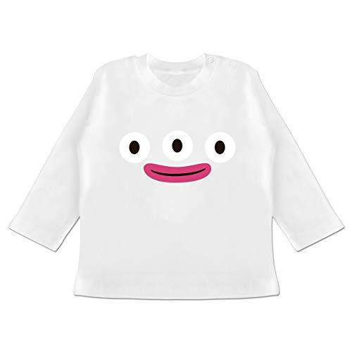Karneval und Fasching Baby - Monster Karneval - 12-18 Monate - Weiß - BZ11 - Baby T-Shirt ()