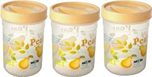 Nayasa Plastic Dal Container Set, 1 Kg, Set of 3, Yellow
