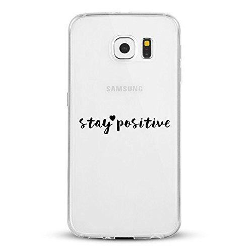 Vanki® Coque Galaxy S6 Edge, Motif de mot personnalisé Ultra transparente silicone en gel TPU souple Coque de Bumper et Anti Scratch Shock Absorption for Samsung Galaxy S6 Edge 5